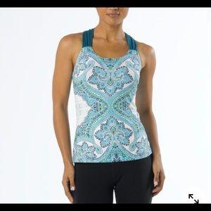 Prana yoga top phoebe blue turquise active wear